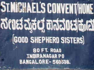 St. Michael's Convent/Home Street Sign