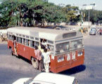 A photograph of a crowded Bangalore city bus.