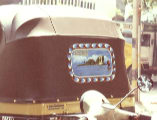 A photograph of the back of a Bangalore Rikshaw.